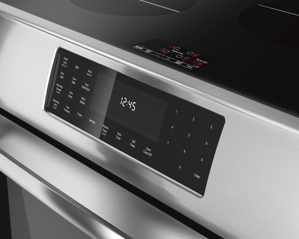 "Model: HII8055U | Bosch 800 Series30"" Induction Slide-in Range, HII8055U, Stainless Steel"