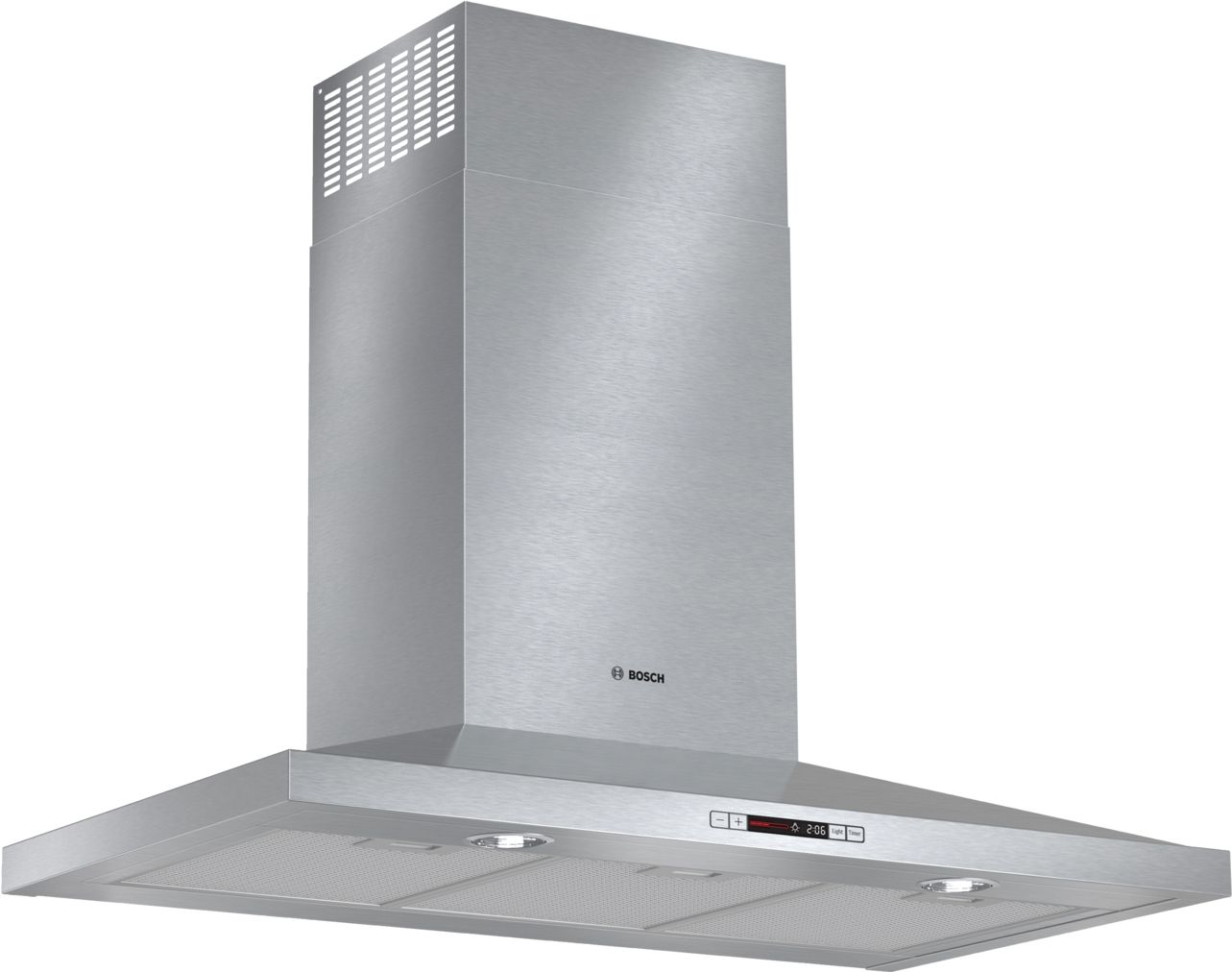 "Bosch 300 Series36"" Pyramid Canopy Chimney Hood, 600 CFM, HCP36651UC, Stainless Steel"