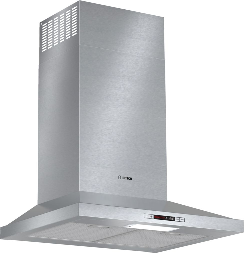 "Bosch 300 Series24"" Pyramid Canopy Chimney Hood, 300 CFM, ENERGY STAR®, HCP34E51UC, Stainless Steel"