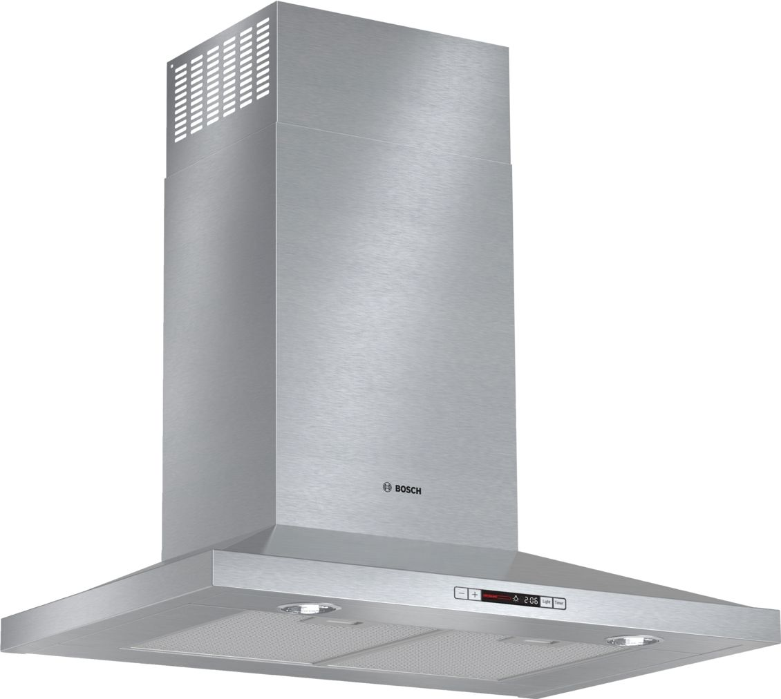 "Bosch 300 Series30"" Pyramid Canopy Chimney Hood, 600 CFM, HCP30651UC, Stainless Steel"