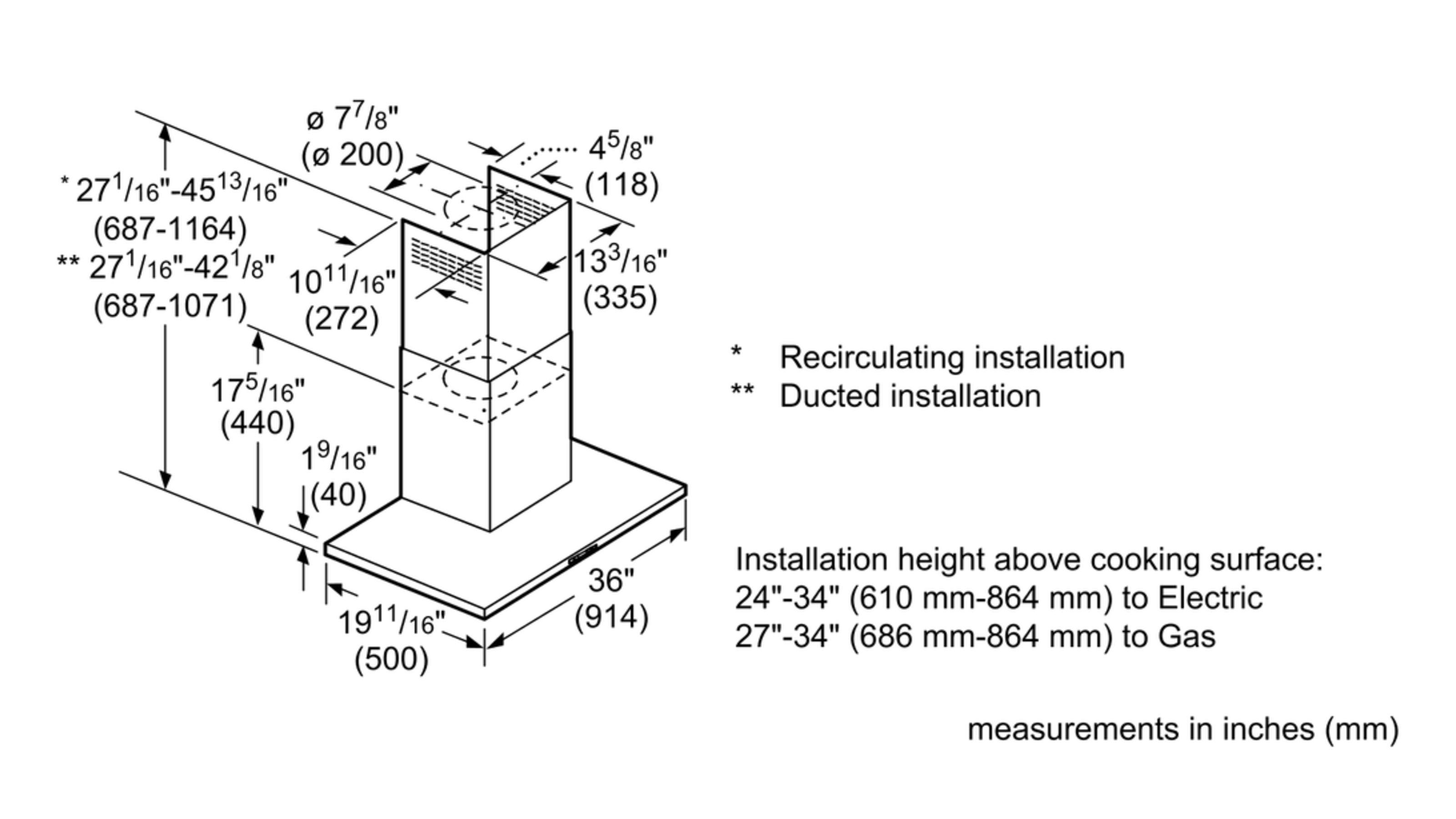 Model: HCB56651UC | 500 Series36