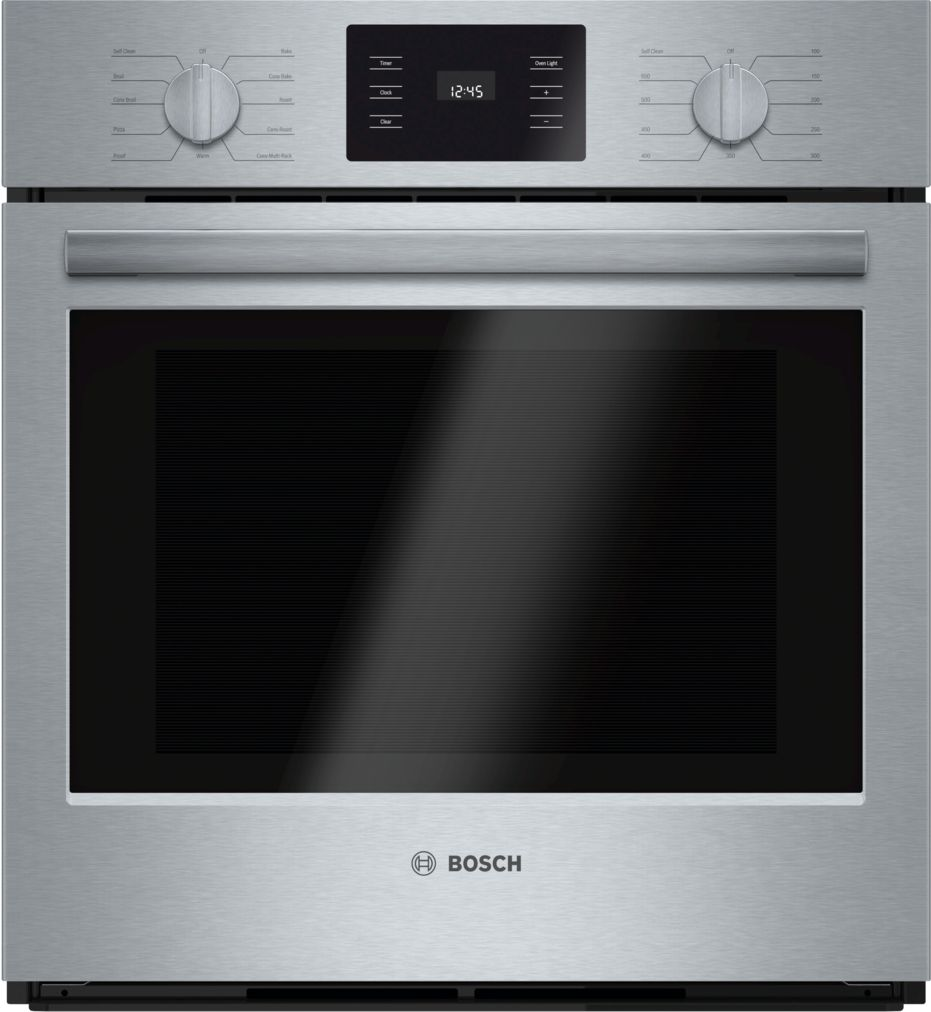 "Bosch 500 Series27"" Single Wall Oven, HBN5451UC, Stainless Steel"