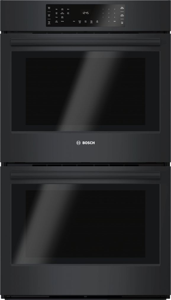 "Bosch 30"" Double Wall Oven, HBL8661UC, Black"
