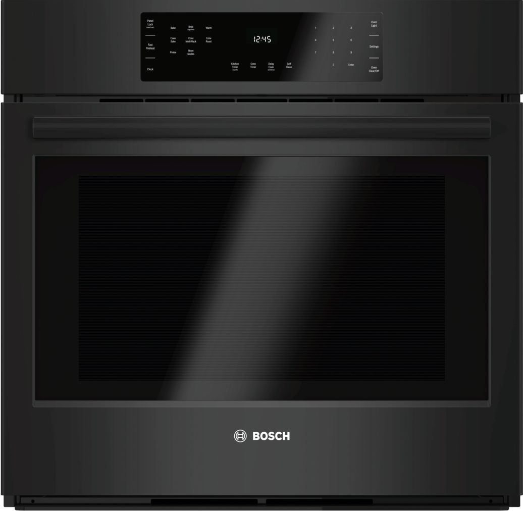 "Bosch 800 Series30"" Single Wall Oven, HBL8461UC, Black"