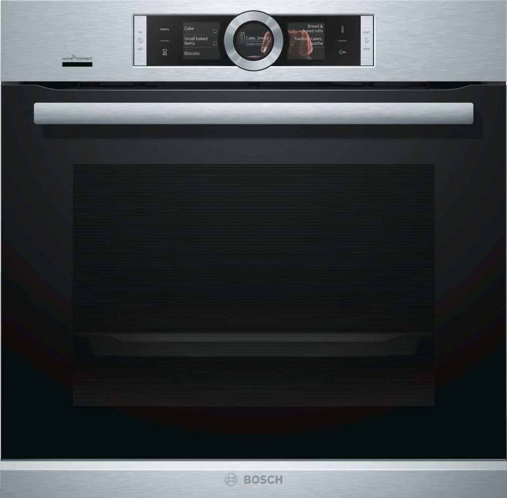 "Bosch 500 Series24"" Single Wall Oven with Home Connect, HBE5452UC, Stainless Steel"
