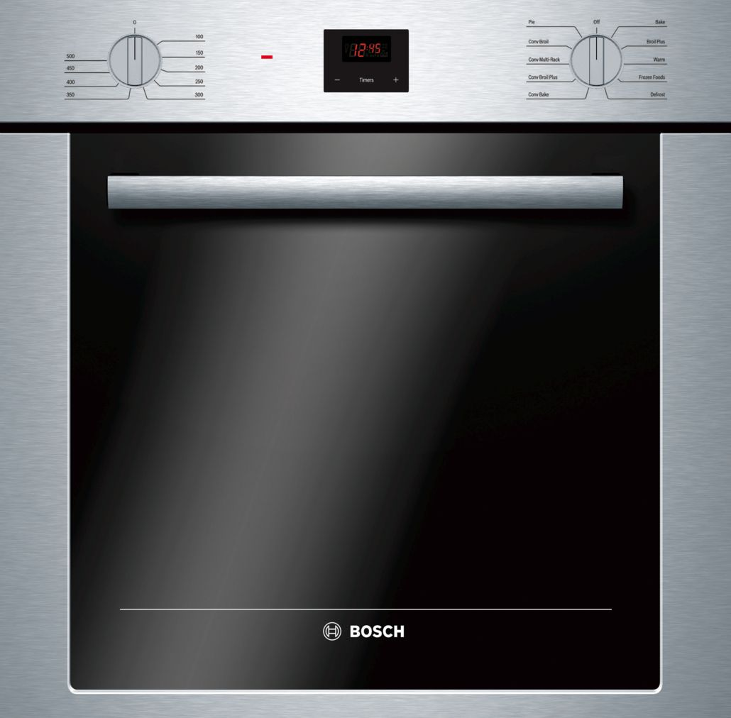 "Bosch 500 Series24"" Single Wall Oven, HBE5451UC, Stainless Steel"
