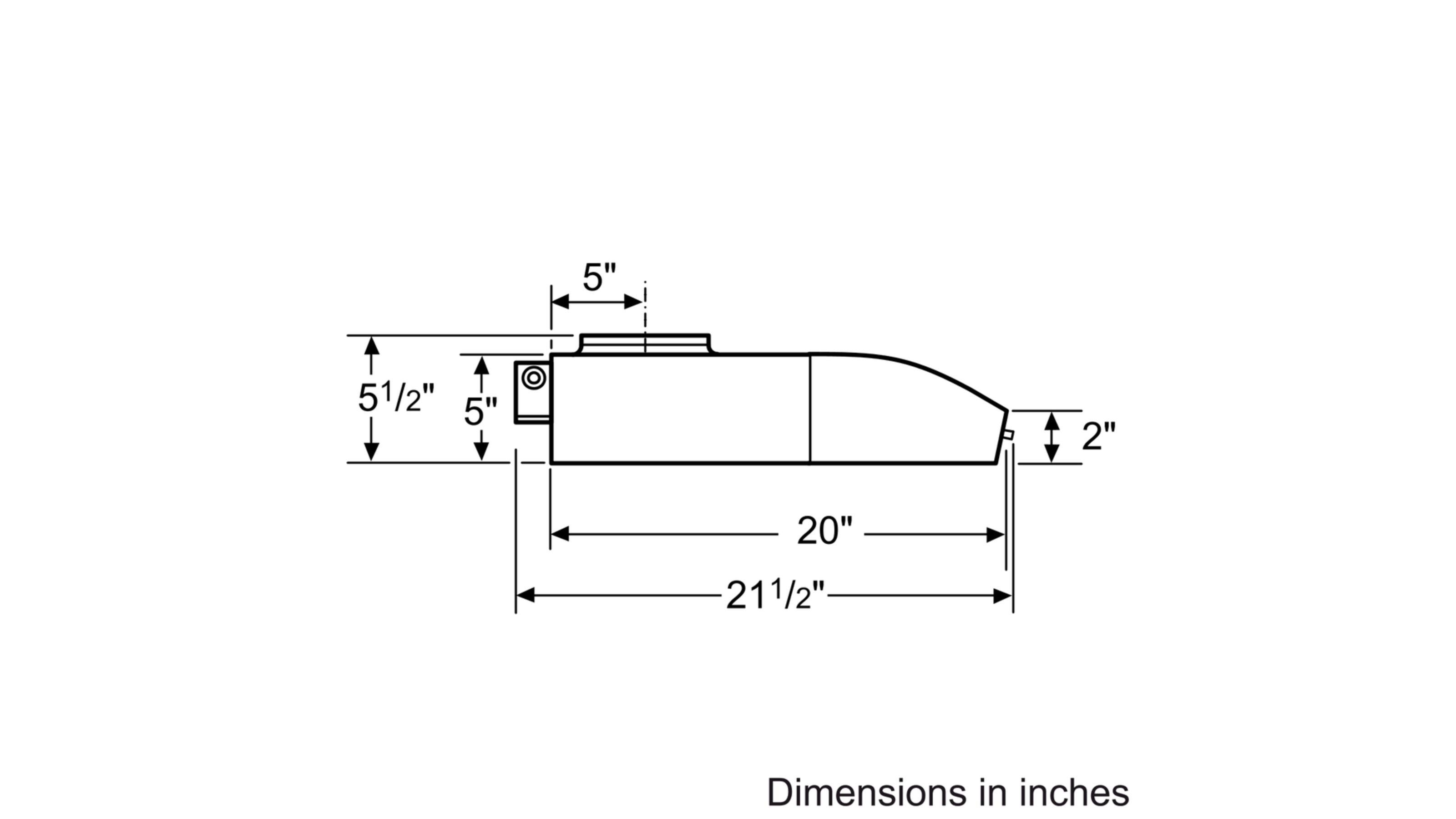 "Model: DUH30252UC | Bosch 500 Series30"" Under-cabinet Hood, 400 CFM, DUH30252UC, Stainless Steel"