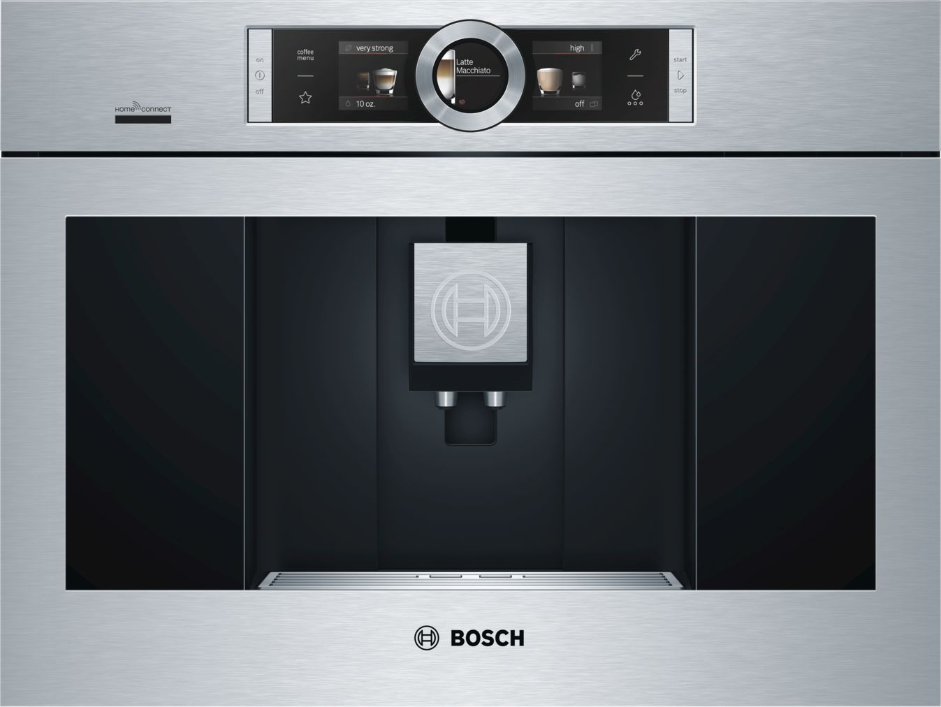"Bosch 800 Series, 24"" Built-in Coffee Machine with Home Connect, BCM8450UC, Stainless Steel"