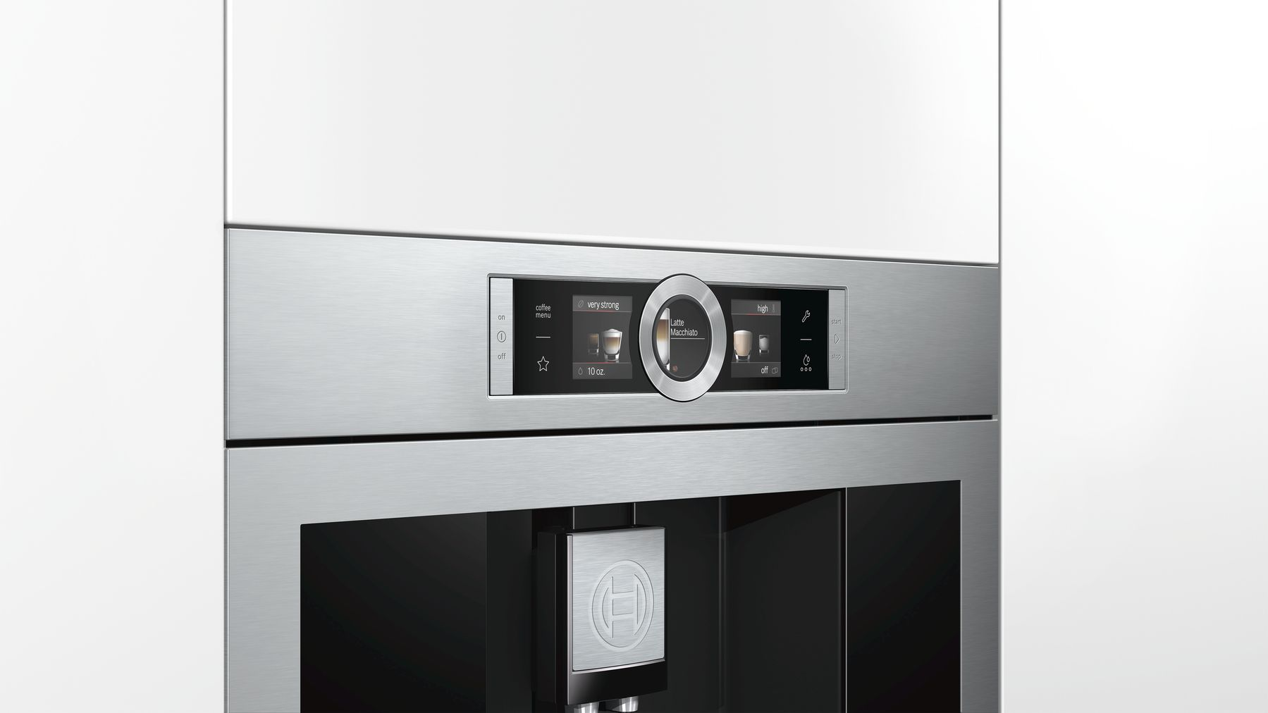 "Model: BCM8450UC | Bosch 800 Series, 24"" Built-in Coffee Machine with Home Connect, BCM8450UC, Stainless Steel"