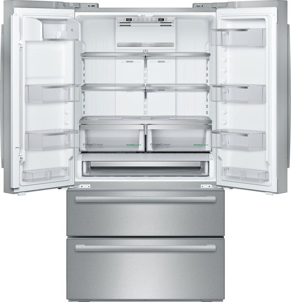 "Model: B21CL81SNS | Bosch 800 Series36"" Freestanding French Door Refrigerator, B21CL81SNS, Stainless Steel"