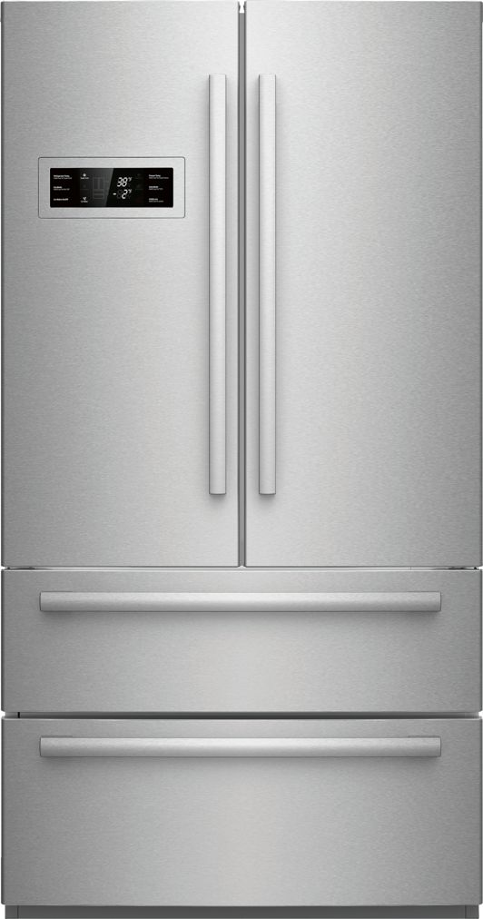"Bosch 800 Series36"" Freestanding Counter-Depth French Door Refrigerator, B21CL80SNS, Stainless Steel"