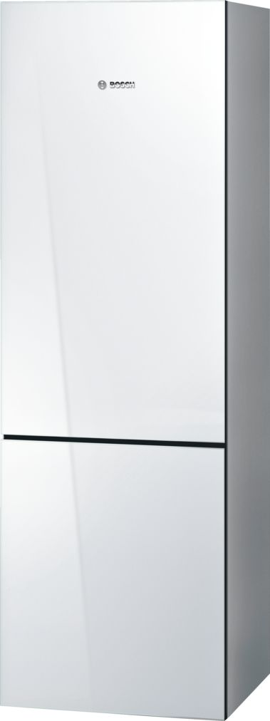 "Bosch 800 Series24"" Freestanding Counter-Depth Two Door Bottom Freezer Refrigerator, B10CB80NVW, White Glass"