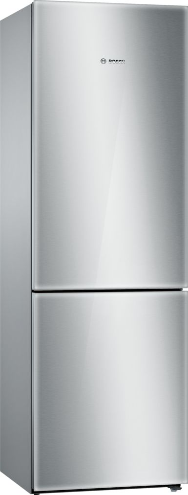 "Model: B10CB80NVS | Bosch 800 Series24"" Freestanding Counter-Depth Two Door Bottom Freezer Refrigerator, B10CB80NVS, Glass on Stainless Steel"