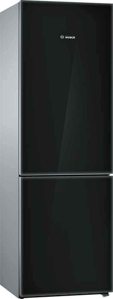"Bosch 800 Series24"" Freestanding Counter-Depth Two Door Bottom Freezer Refrigerator, B10CB80NVB, Black Glass"