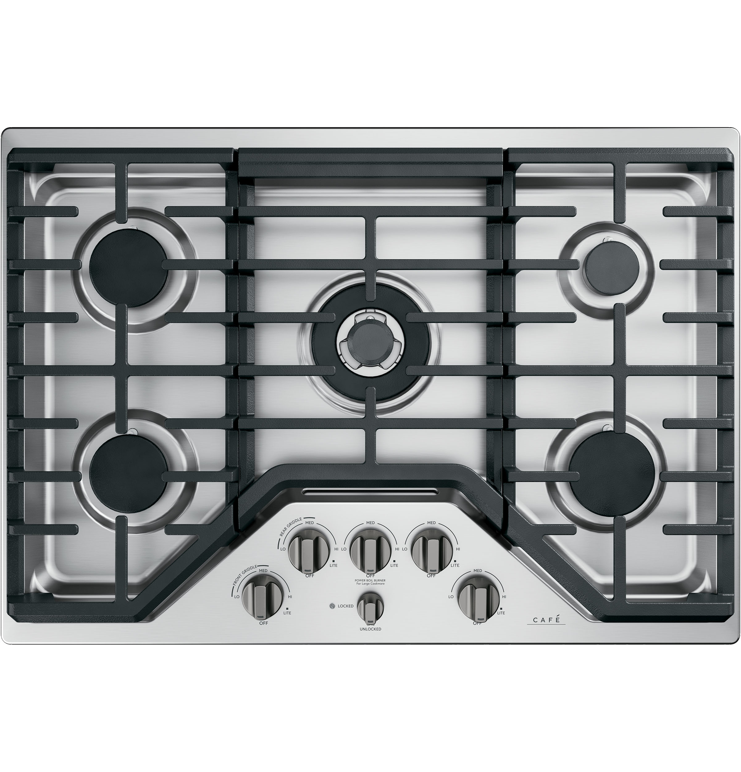 Cafe 5 Gas Cooktop Knobs - Brushed Black