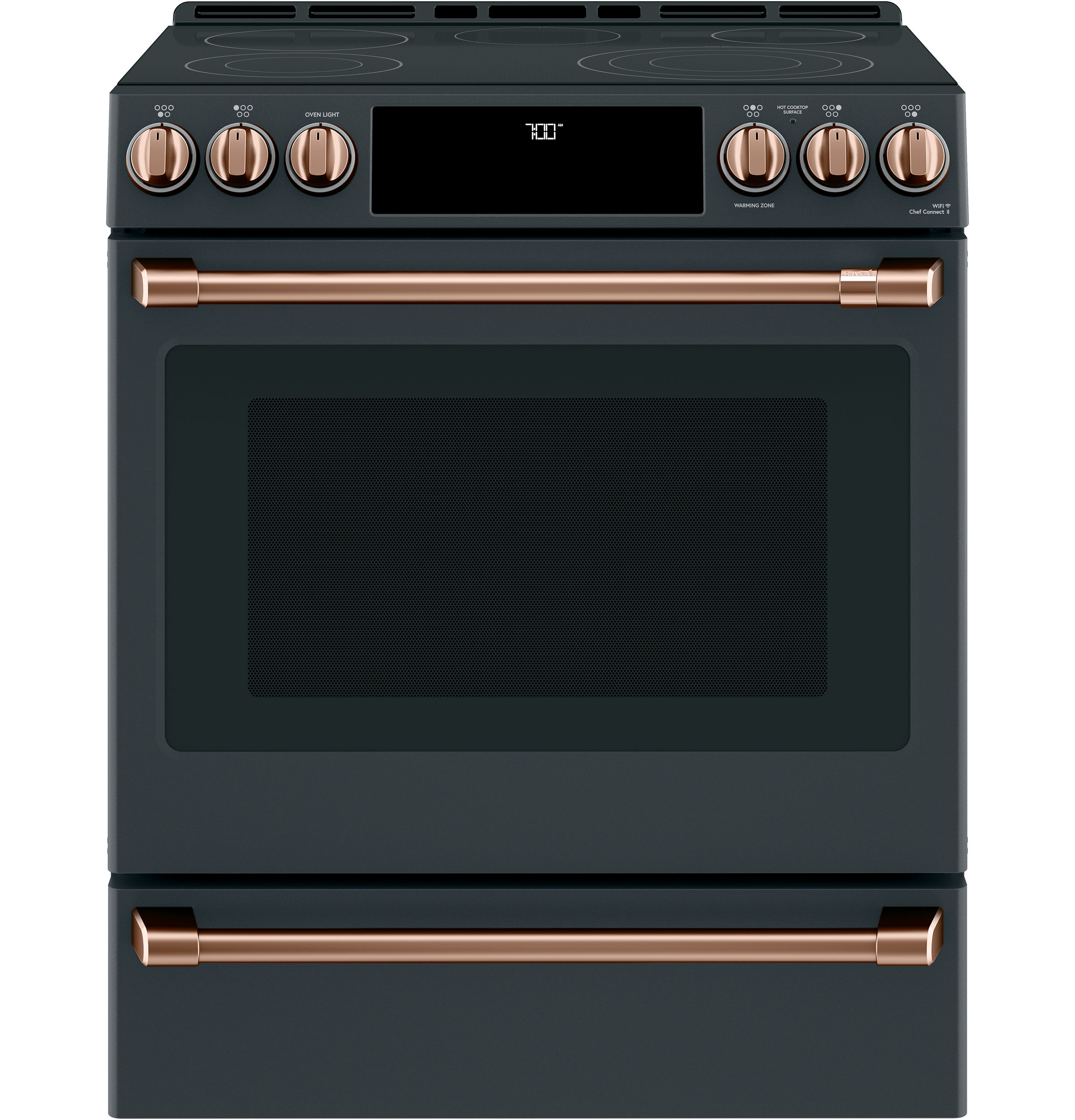 Front Control Electric Knobs and Handles - Brushed Copper