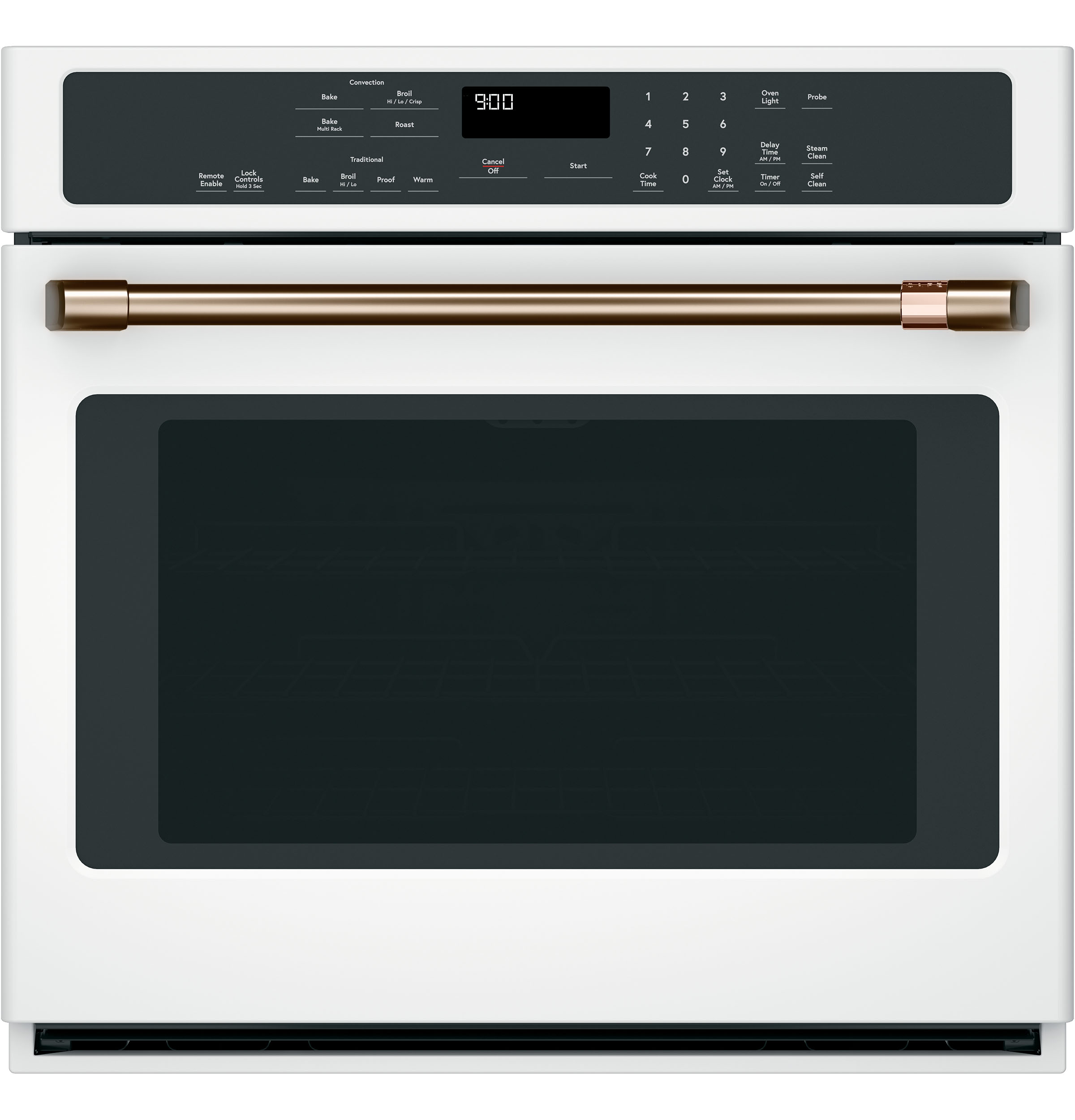 "Cafe 30"" Single Wall Oven Handle - Brushed Bronze"