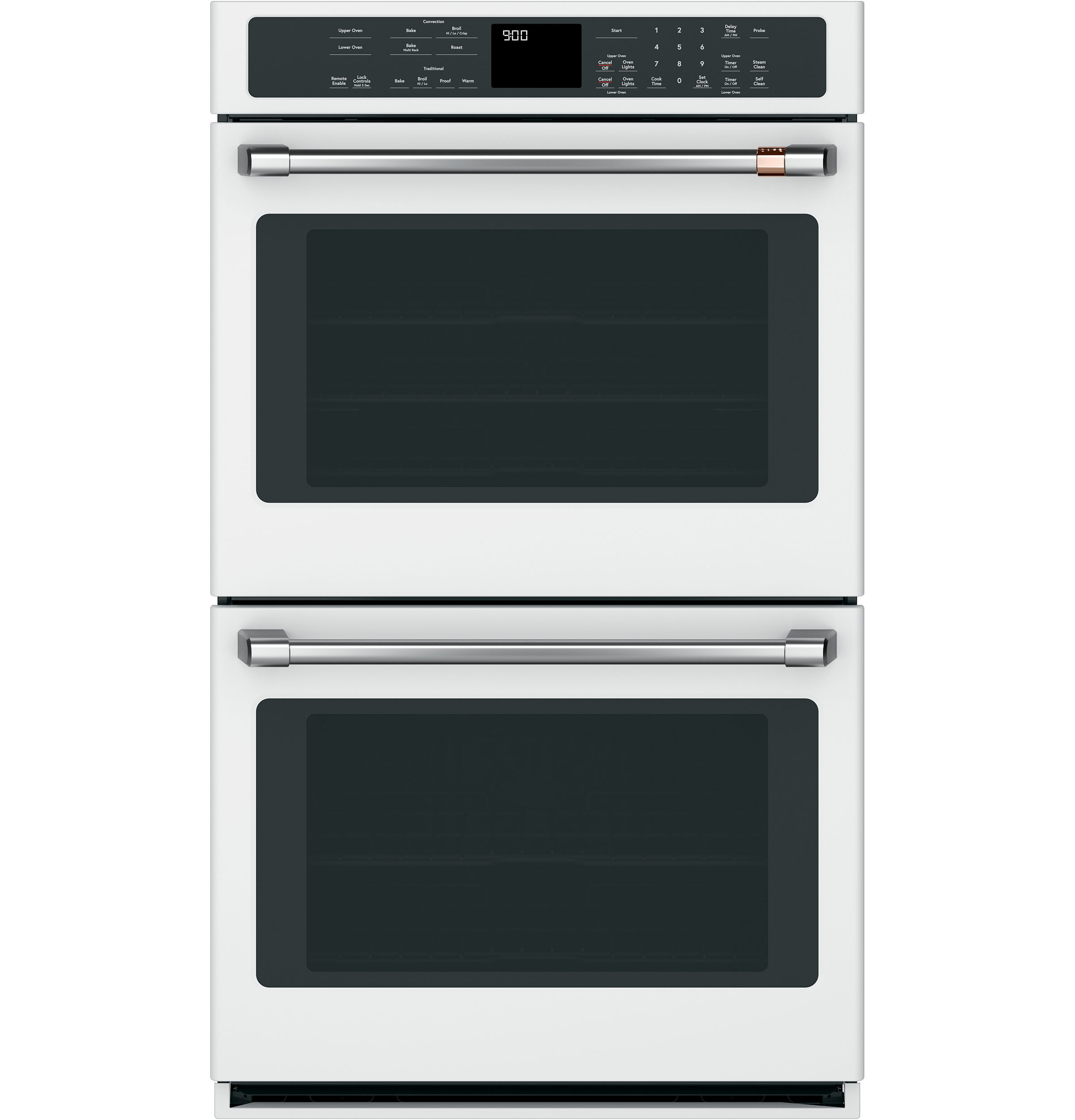 "Model: CXWD0H0PMSS | Cafe 2 - 30"" Double Wall Oven Handles - Brushed Stainless"