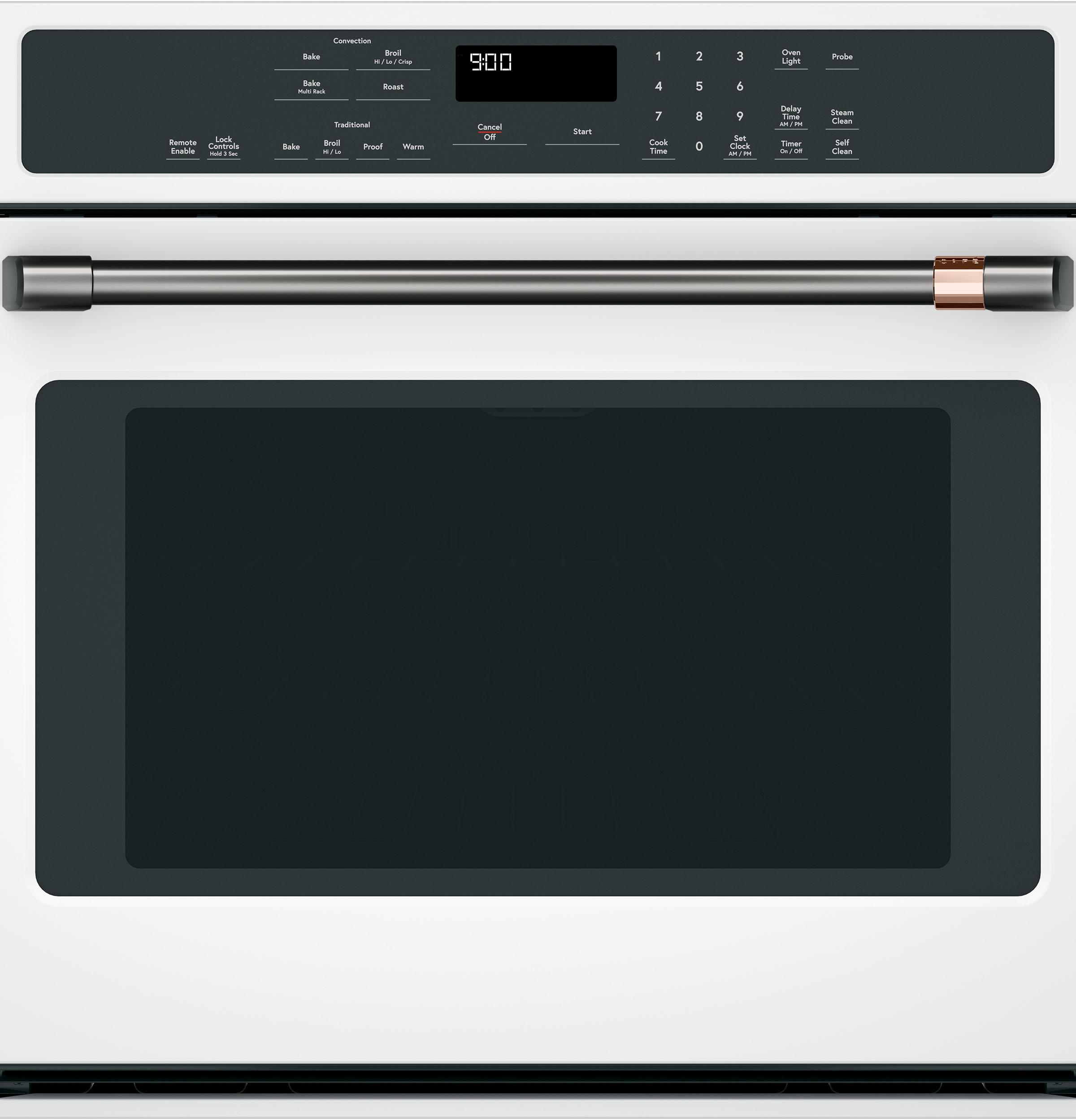 "Model: CXWS0H0PMBT | Cafe 30"" Single Wall Oven Handle - Brushed Black"