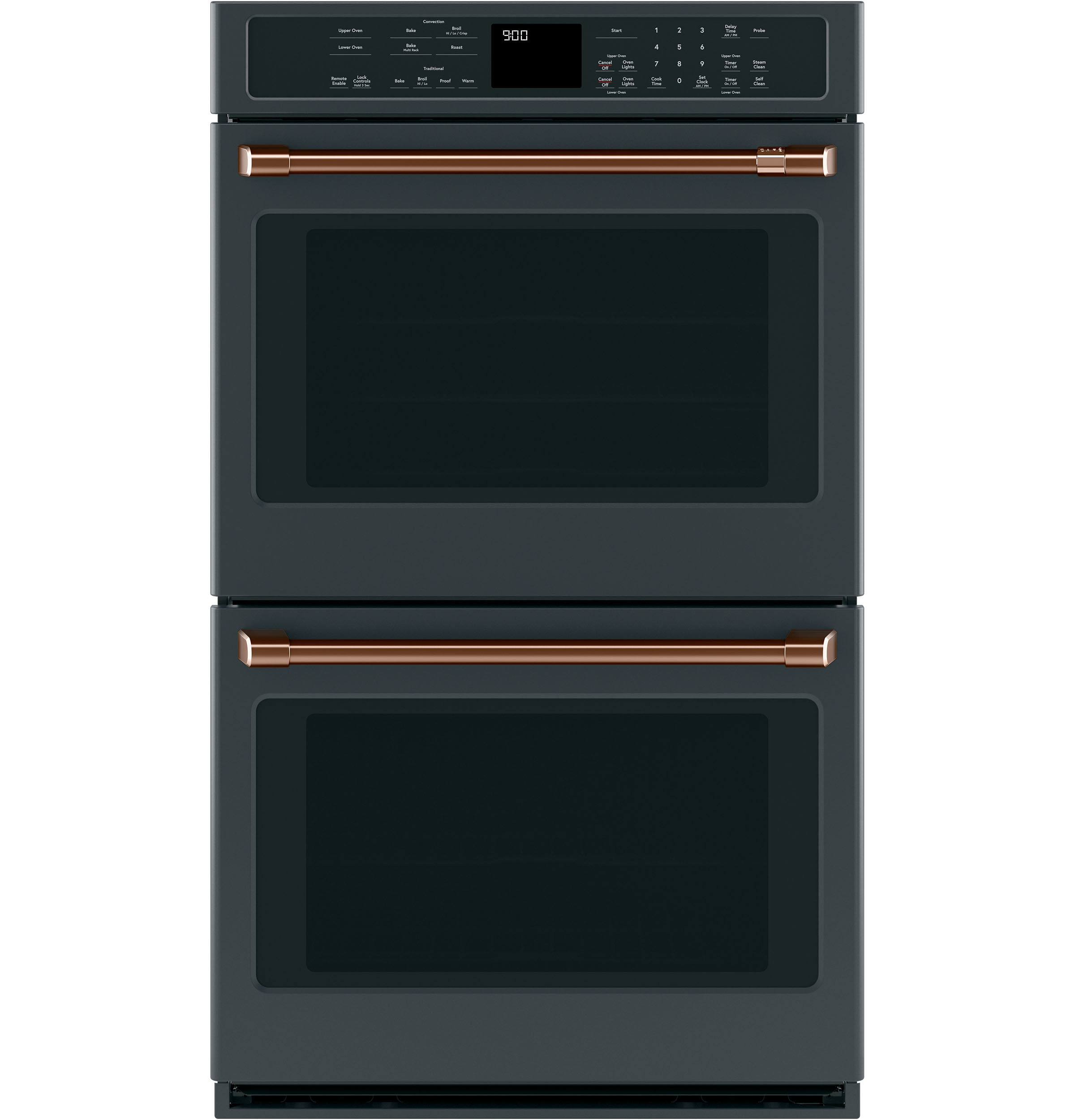 "Model: CXWD0H0PMCU | Cafe 2 - 30"" Double Wall Oven Handles - Brushed Copper"