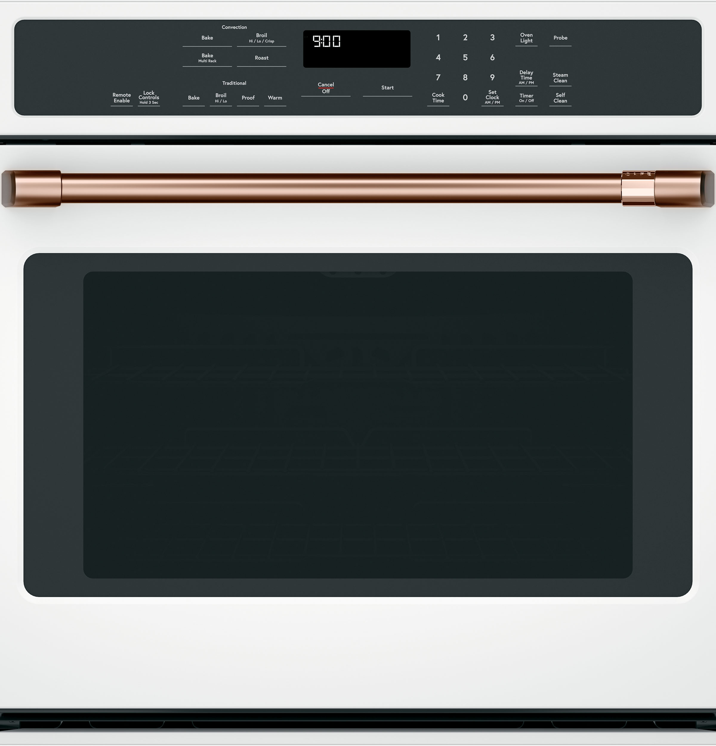 "Cafe 30"" Single Wall Oven Handle - Brushed Copper"