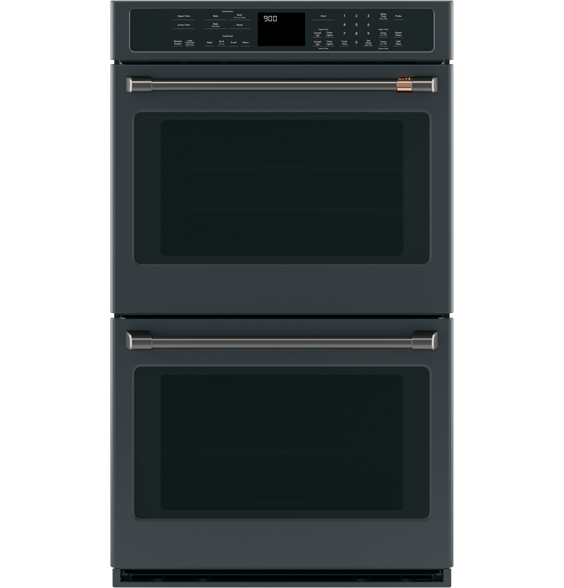 "Cafe 2 - 30"" Double Wall Oven Handles - Brushed Black"