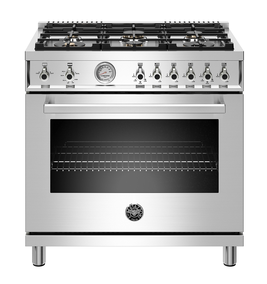 "Bertazzoni 36"" Professional Series range - Gas oven - 6 brass burners - LP version"
