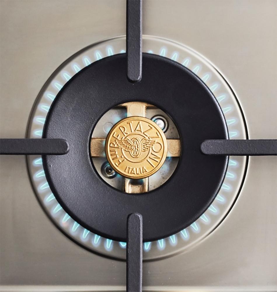 "Model: PROF366GASXTLP | Bertazzoni 36"" Professional Series range - Gas oven - 6 brass burners - LP version"