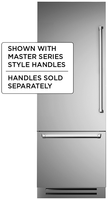 "Bertazzoni 30"" Built-in refrigerator - Stainless - Left swing door"