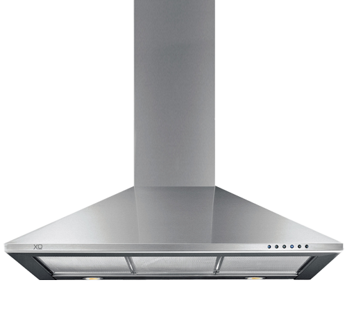 "XO Ventilation 600 CFM 24"" Italian Made Wall Mount Chimney Range Hood Stainless"
