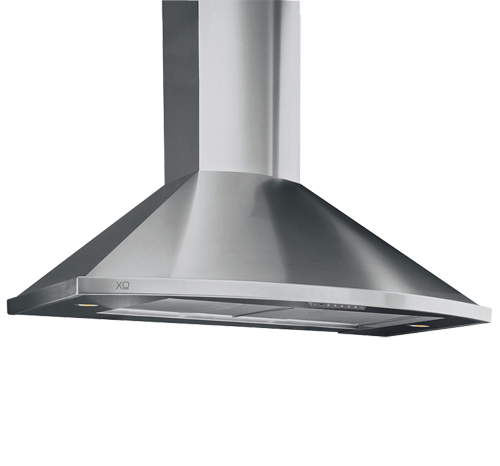 """XO Appliances 395 CFM 36"""" Make Up Air Compliant Curving Front Range Hood Stainless"""