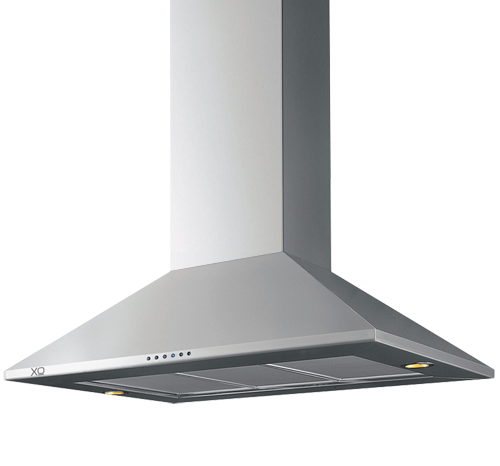 "XO Appliances 395 CFM 36"" Make Up Air Compliant Island Hood Stainless"