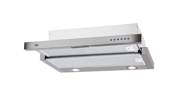 "XO Ventilation 600 CFM 30"" Under Cabinet Glide Out Visor Italian Made Stainless"