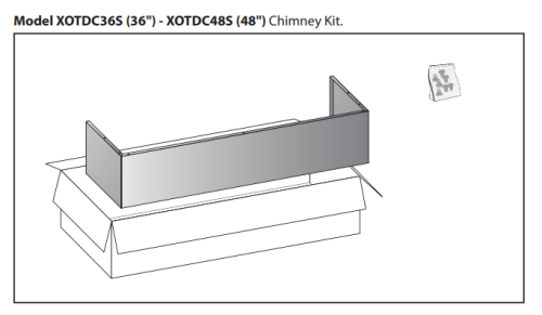 XO Appliances Optional Duct Cover For XOT1848S Fits 8' Ceiling