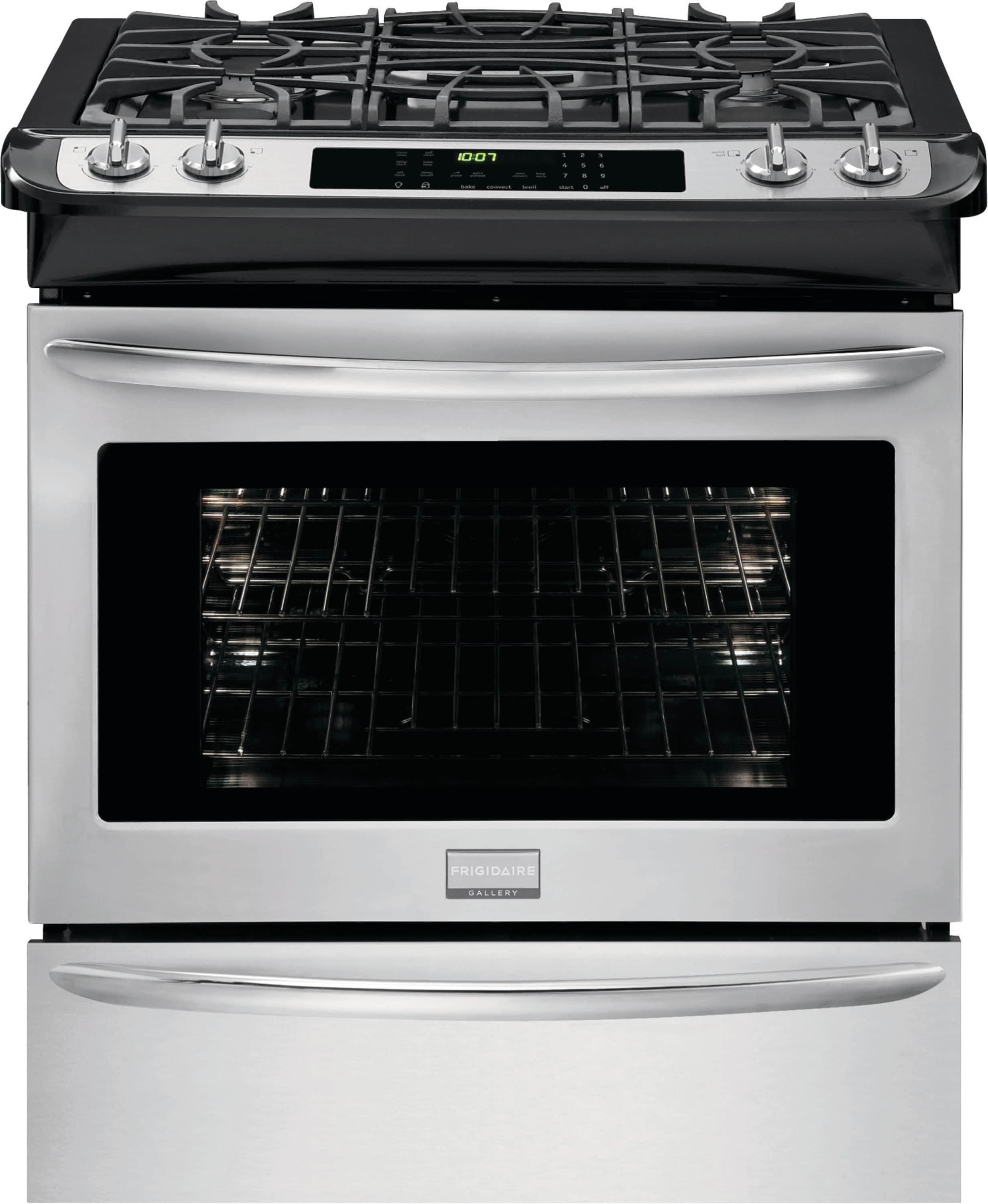 "Frigidaire 30"" Slide-In Dual-Fuel Range"