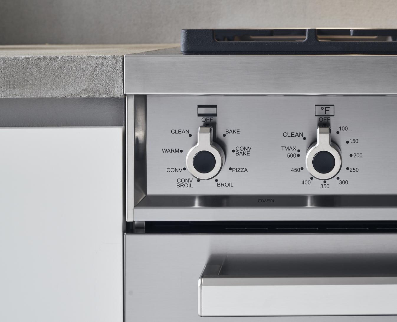 "Model: PROF486GGASBIT | Bertazzoni 48"" Professional Series range - Gas Oven - 6 brass burners + griddle"