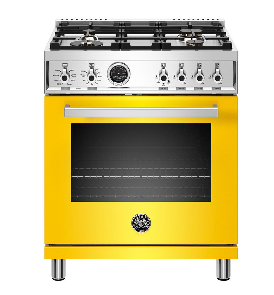 "Bertazzoni 30"" Professional Series range - Electric self clean oven - 4 brass burners"