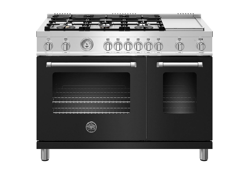 "Model: MAST486GGASNEE | Bertazzoni 48"" Master Series range - Gas Oven - 6 aluminum burners + griddle"