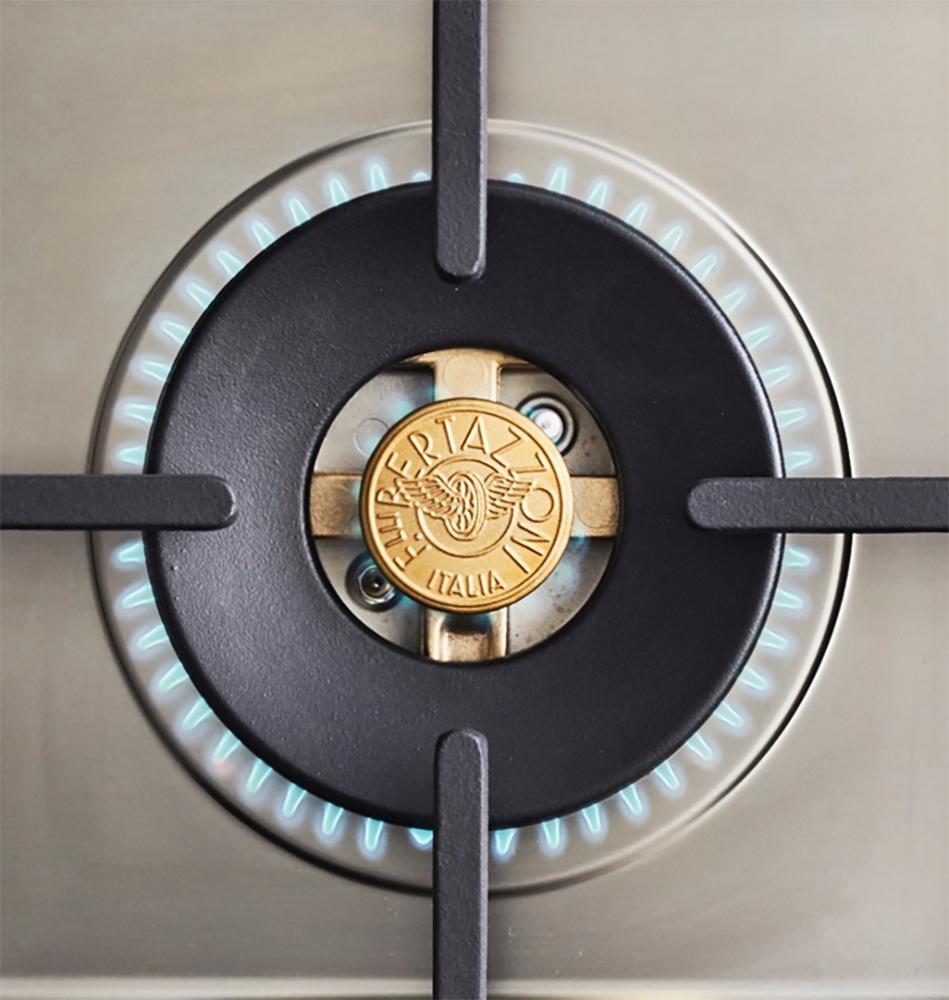 "Model: MAST366GASXTLP | Bertazzoni 36"" Master Series range - Gas oven - 6 brass burners - LP version"