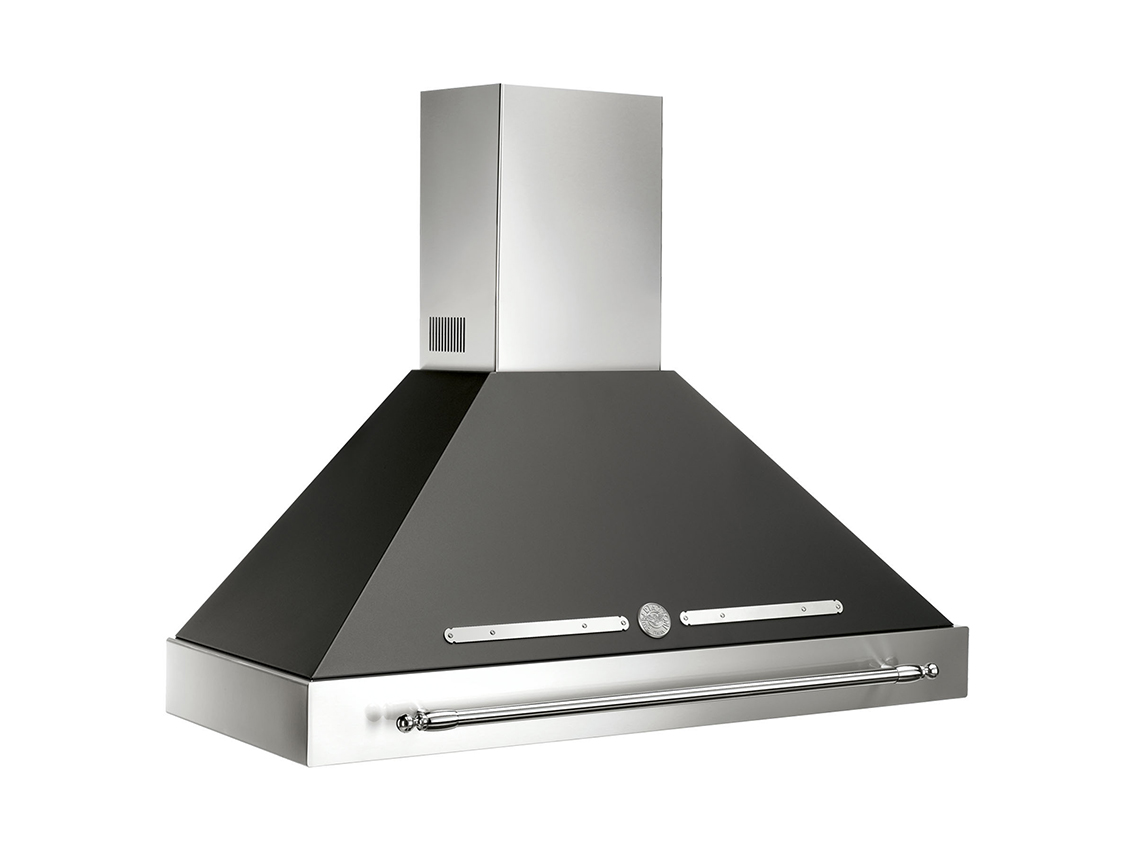 "Model: KC48HERNE | Bertazzoni 48"" Canopy Hood Black use with K48HERX14 purchased separately"