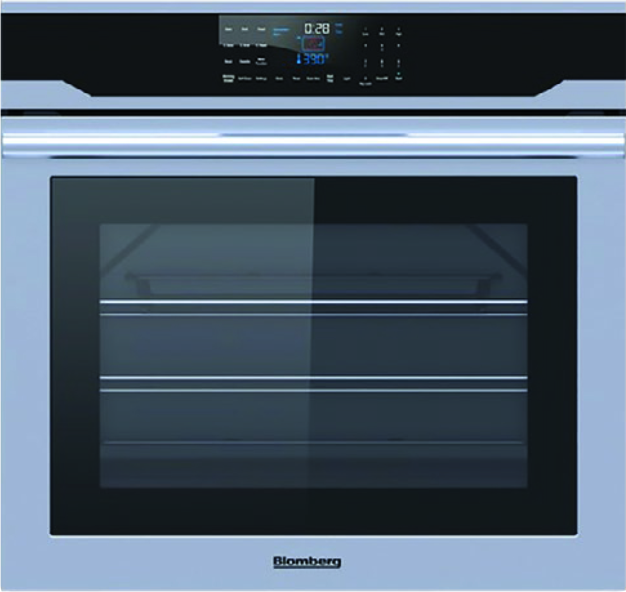 "Blomberg 30"" Single Wall Oven, self clean, cool touch glass, stainless"