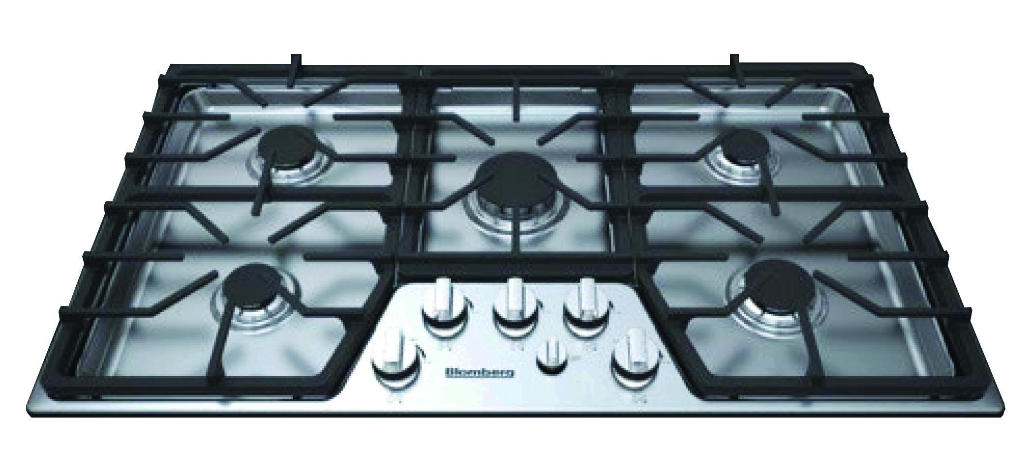 36in gas cooktop, 5 burner