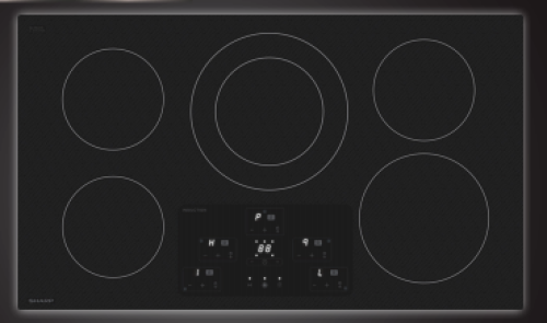 "Model: SDH3652DB | Sharp Appliances 36"" Induction Cooktop"
