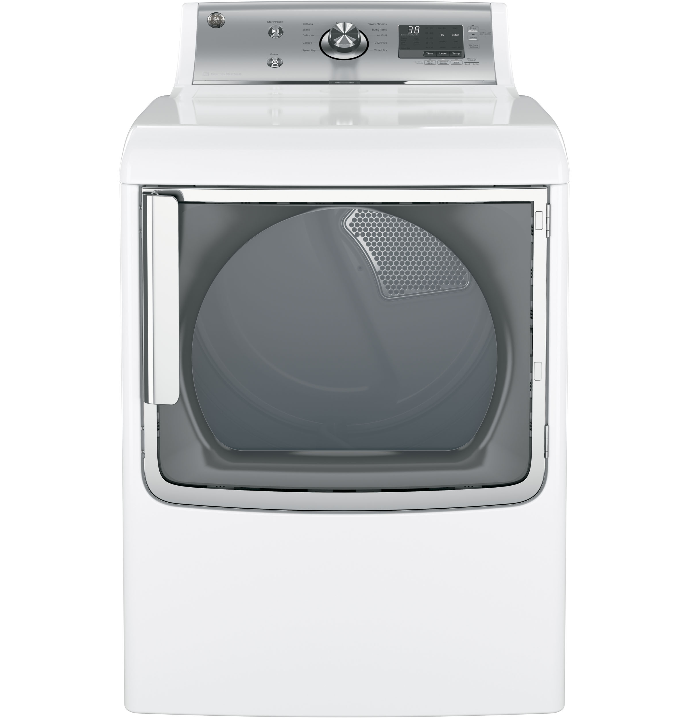 GE® 7.8 cu. ft. capacity aluminized alloy drum electric dryer