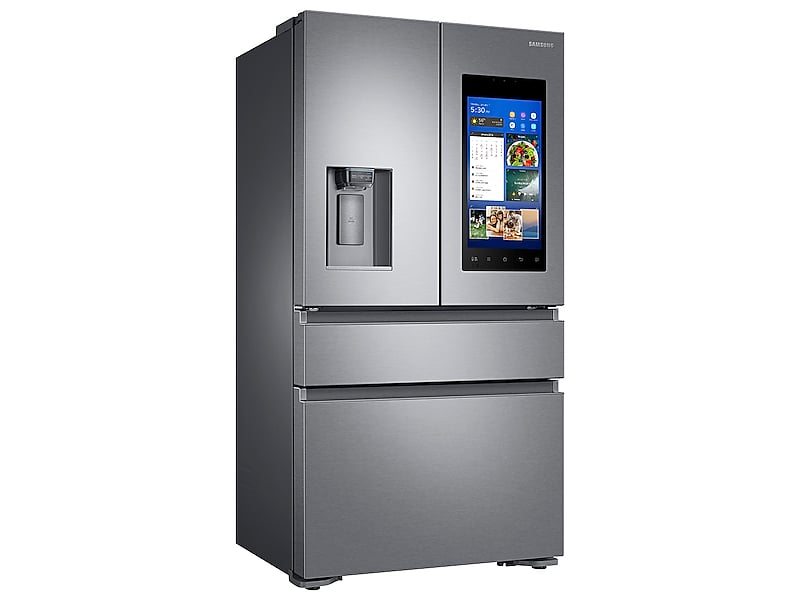 22 cu. ft. Capacity Counter Depth 4-Door French Door Refrigerator with Family Hub™ Recessed Handles (2017)