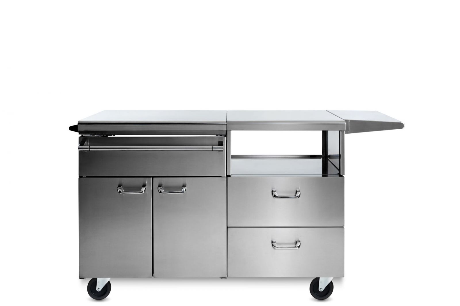 Professional Serve and Prep Countertop on Mobile Kitchen Cart (LSERVE-M)