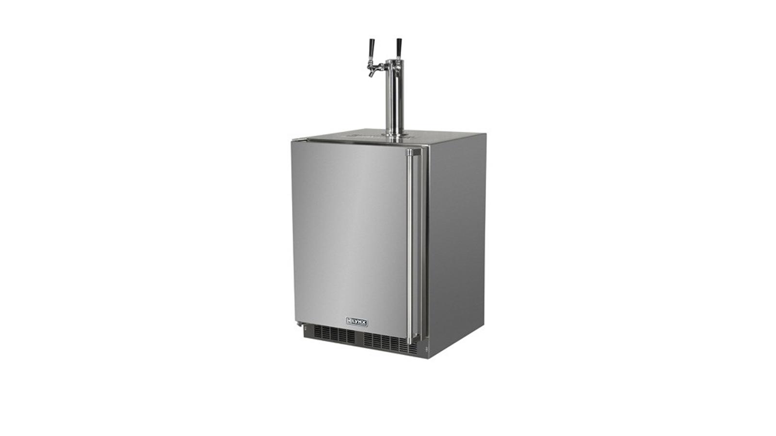 """24"""" Professional Outdoor Beverage Dispenser with Left Hinge (LM24BFL)"""