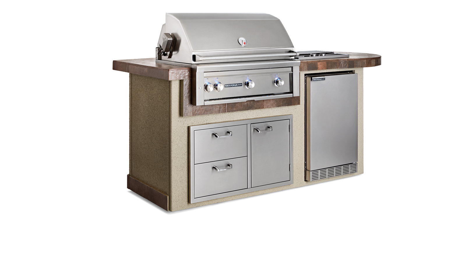 "Lynx Contemporary Gray Deluxe Island Package with 36"" Sedona Grill with Rotisserie (L2600C)- LP Gas"