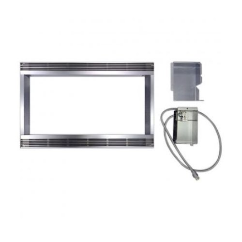 "Sharp Appliances 30"" Built-in Trim Kit for R-530EK - Black  (picture is in stainless but this model is black)"