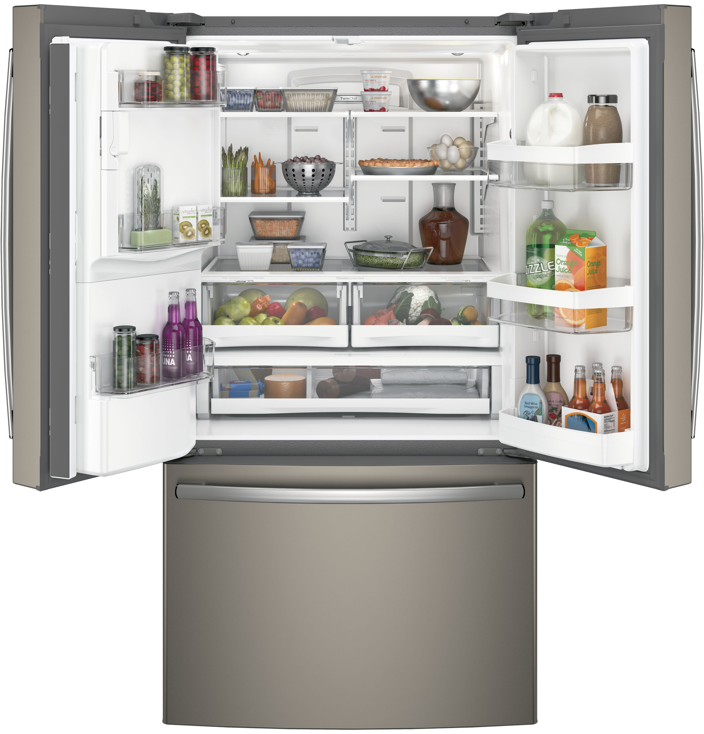 Model: 3GFE26GMKESWEB | GE GE® ENERGY STAR® 25.8 Cu. Ft. French-Door Refrigerator